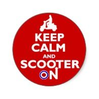 Keep Calm and Scooter On Stickers - Scooters Rock #vespa