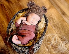 Ewok Star Wars Hat Newborn 0 3m 6m Fuzzy Brown by NitaMaesGarden, $34.95