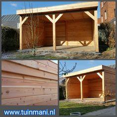 Een maatwerk veranda - overkapping, is een van de specialiteiten van tuinmani . Deze terrasoverkapping is gemaakt van lariks . Het dak is bedekt met EPDM folie.   Ook verkrijgbaar met dakleer en in geïmpregneerd hout.  Geplaatst door en verkrijgbaar bij @Tuinmani #tuinmani www.tuinmani.