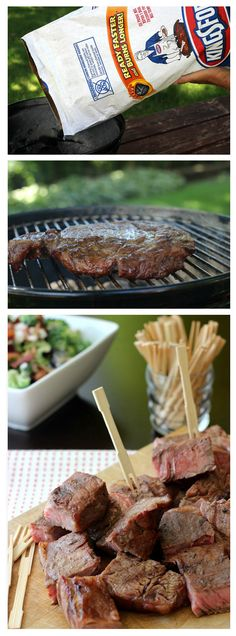 Fire up your game day with this mouthwatering Grilled Steak Marinade recipe from Walmart Mom Blogger Liz Latham. To bring out the best flavor and ensure your grill reaches the right temperature, start by arranging charcoal in a pyramid. Pour about 2 oz. of Kingsford Lighter Fluid over the top and light carefully. Briquets are ready when covered with 70% ash. Find everything you need, including Choice Steak and Kingsford Charcoal for best flavor, at your local Walmart.