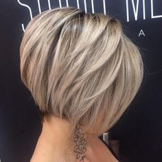 Short Layered Blonde Bob #shorthaircutspixie