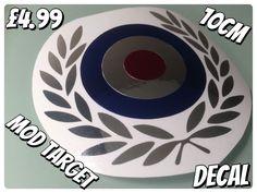 MOD TARGET WITH CHROME LAUREL  IN  METALLIC  CHROME 10cm  | eBay