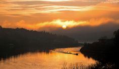 Solnedgang i Vrengensundet