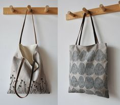 the tote is cute, but I like the coat hooks. Dowels and some wood.