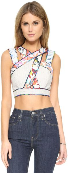 BCBGMAXAZRIA Alisa Crop Top