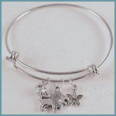 Bracelet Inspired by Alex & Ani Greek Mascot Charms by Arrimage, Alpha Delta Pi, adp, lion, violet,  diamond