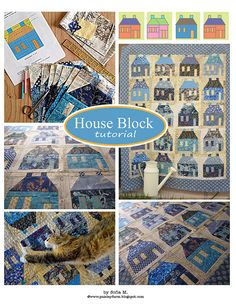 PDF tutorial on the house block  very interesting variety of prints!