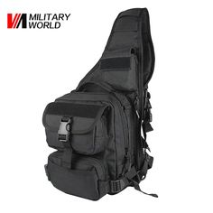 32.87$  Watch now - http://aix1w.worlditems.win/all/product.php?id=32723457714 - Men Outdoor Sport Hunting Shoulder Bags 900D Nylon Tactical Military Chest Pack Travel Camping Cycling Single Backpack Black