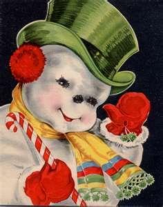 Vintage Christmas Cards   strawberryluna bloggery
