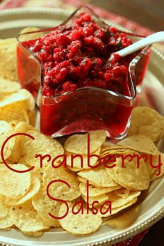 With Thanksgiving just around the corner, I wanted to post this cranberry salsa. At my families Thanksgiving Day celebration, we prepar. Cranberry Salsa, Cranberry Recipes, Fall Recipes, Holiday Recipes, Holiday Foods, Christmas Recipes, Christmas Snacks, Christmas Eve, Christmas Ideas