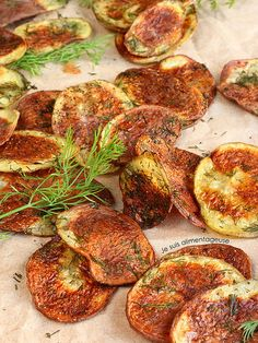 Baked Dill Potato Chips by lisatrucmaile, via Flickr