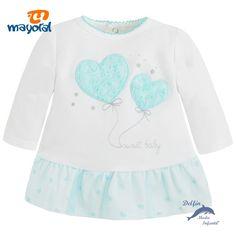 Vestido bebe MAYORAL felpa con bordado corazon