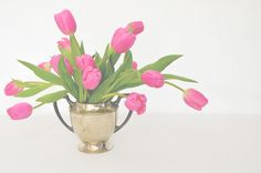 tulips are in season right now - fill up your home with them!