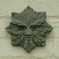 Star Green Man Garden Wall Ornament Hand Made