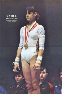Nadia and behind her Mukhina and Shaposhnikova Acrobatic Gymnastics, Sport Gymnastics, Artistic Gymnastics, Gymnastics History, Gym Photos, Sports Photos, Olympic Sports, Olympic Games, Nadia Comaneci Perfect 10