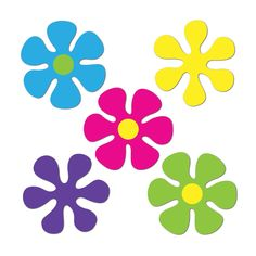 Mini Retro Flower Cutouts (240ct)