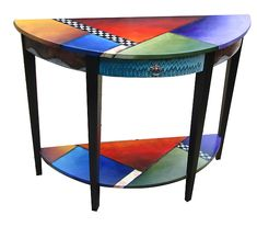 All the Colors at Once by Wendy Grossman: Wood Console Table available at www.artfulhome.com