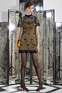 Marc Jacobs. Resort 2015. Guipure Overlay Satin Slip Dress