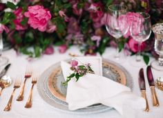 La Tavola Fine Linen Rental: Lacy Pearl with Hemstitch White Napkins | Photography: Kayla Barker Fine Art Photography, Event Planning & Design: The Wildflowers, Floral Design: Bows And Arrows, Rentals: Bella Acento, Venue: Hotel Crescent Court