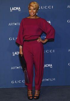 Mary J. Blige steelt de show in jumpsuit