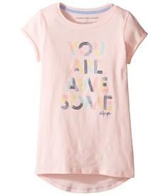 Tommy Hilfiger Kids Awesome Graphic Tee (Little Kids/Big Kids) (Crystal Rose) Girl's T Shirt