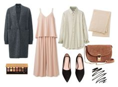 """""""Nude Palette: Spring Layers"""" by aneeqlondon on Polyvore featuring Uniqlo and Anastasia Beverly Hills"""