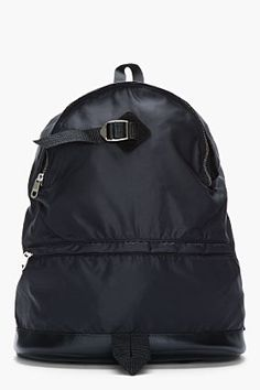A.P.C. Black Nylon And Leather Panab Backpack @ $180