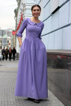 Modest elegant collared dress  #elegant #elegantdaywear
