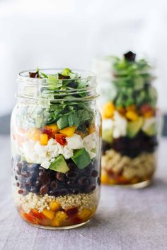 Central American Salad In A Jar! Vegetarian, easy to make, gluten-free, healthy, delicious!