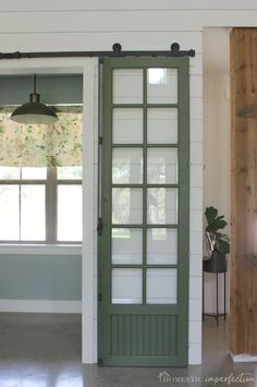 Sliding barn door tips and tricks including how to clean vintage hardware paint around window panes and the best barn door hardware for a fantastic price! - October 26 2019 at Barn Door Window, Diy Barn Door, Window Panes, Door Gate, Closet Interior, Interior Barn Doors, Double Sliding Barn Doors, Sliding Barn Door Hardware, Door Hinges