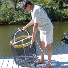 Fishing Live Bait Pen 2 x 2 ... Or larger diameter maybe