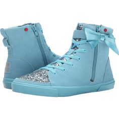 UGG Hi Top Glitter Women's Lace up casual Shoes, Blue ($65) ❤ liked on Polyvore featuring shoes, sneakers, blue, hi tops, zipper sneakers, glitter high tops, glitter shoes and blue glitter shoes