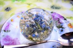 Купить Подарок на память шар Незабудки 6 см, памятный сувенир на долгие годы в интернет магазине на Ярмарке Мастеров