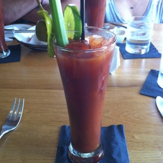bloody marys at south congress cafe.