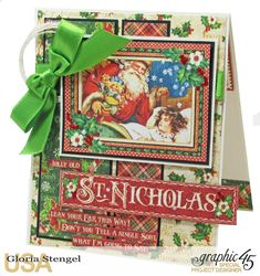 Card #graphic45 #stnicholas #card #christmas