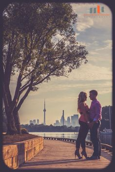 Engagement photo. Toronto life