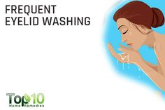 frequent eyelid washing to get rid of dry eyes