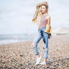 The body suit might be a seaside favourite but slip a pair of jeans over the top and you've nailed one of SS16's hottest looks   Pair w/ crisp white sneakers for added style points #NobodysChild  #fashion #style #bodysuit #fblogger #instafashion #streetstyle #ootd by iamnobodyschild