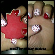 Canada day nail art!