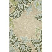 Found it at Wayfair - Ravella Ornametal Leaf Boder Aqua Indoor / Outdoor Rug. This could possibly work with my laundry room color scheme.