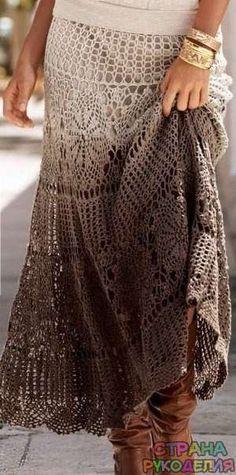 Стильная вязаная юбка — Страна рукоделия