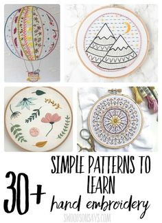 Embroidery Designs Patterns Check out this fun list of modern hand embroidery sampler patterns! They will show you several different stitches and are great patterns to learn hand embroidery. Embroidery Sampler, Learn Embroidery, Hand Embroidery Stitches, Hand Embroidery Designs, Embroidery Techniques, Cross Stitch Embroidery, Embroidery Ideas, Embroidery Tattoo, Hand Stitching