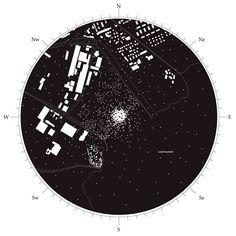 Ciudad constelación / idea para mapas en portfolio