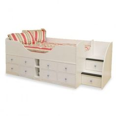 The Larissa White Wooden Bed is an elegant piece that will