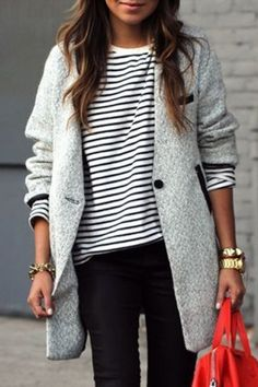Stylish Turn-Down Collar Long Sleeves Color Block Coat For WomenCoats | RoseGal.com