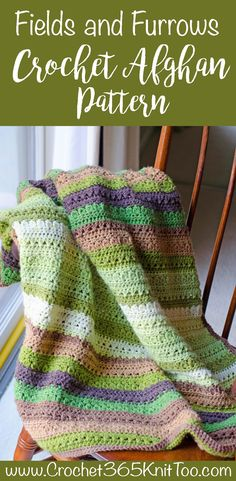 I'm loving this free crochet afghan pattern. The Fields & Furrows Crochet Afghan Pattern is beautiful and such a good use of cake style yarn!
