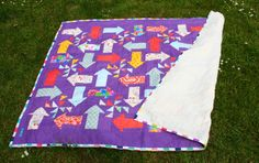 Quilt aus Bettwäsche und Stoffresten / Quilt made from bed linen and scraps of fabric / Upcycling