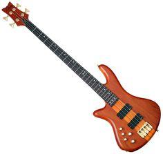 Schecter Left Handed Stiletto Studio-4 Neck Thru Electric Bass Guitar