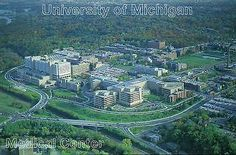 #Aerial view of university of michigan, #medical #center, ann arbor, mi -- postca,  View more on the LINK: http://www.zeppy.io/product/gb/2/121022678471/