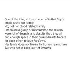Feyre finally found her family<<< then a bitch ass group by the name of the Spring Court stole her